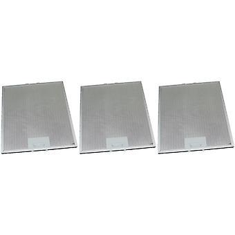 3 x univerzální digestoř kovový tukový filtr 287mm x 313mm