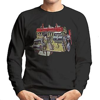 Austin Healey Side View Of Engine British Motor Heritage Men's Sweatshirt