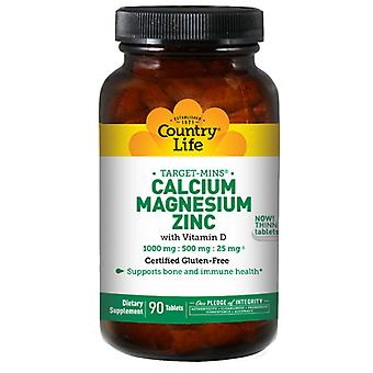 Country Life Cal-Mag-Zinc Target-Mins, 90 Tabs