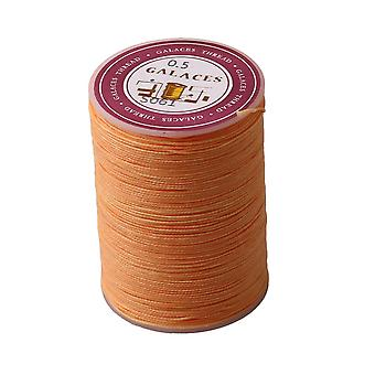 0,5 mm Pomarańczowy poliester Woskowany sznur okrągły nitka Woskowany String Craft DIY