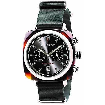 Briston Clubmaster Sport Acetate Chronograph Watch - Grey/Steel