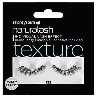 Salon System  Naturalash - Texture - No 122 Reusable Eyelashes - (adhesive Included)