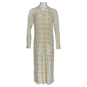 Lisa Rinna Collection Women's Sweater Tie Dye Duster Yellow A353571