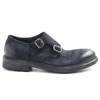 Barrow διπλό παπούτσι πόρπη?s μπλε σουέτ λιπαίνεται