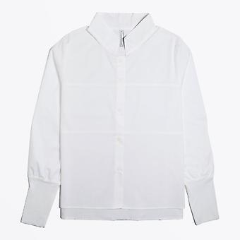 Ania Schierholt - Puuvillainen stretch-paita - Valkoinen