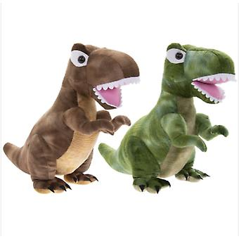 Dinosaur (Pack of 2) Green & Brown Doorstop By Lesser & Pavey