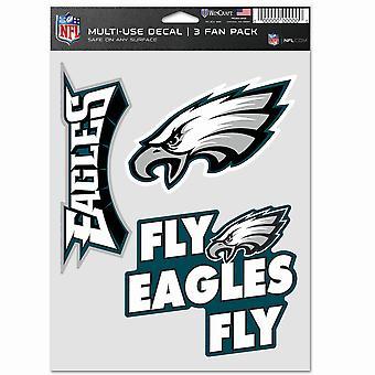 NFL Sticker Multi Set of 3 20x15cm - Philadelphia Eagles