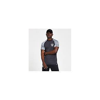 ニューエラ NFL ロス ベガス レイダース ストライプ グレー T シャツ