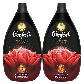 2 Pack Comfort Perfume Deluxe Luscious Bouquet Fabric Conditioner, 58 Lavados