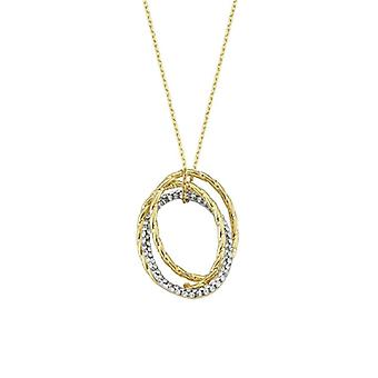Collier double cercle d'or
