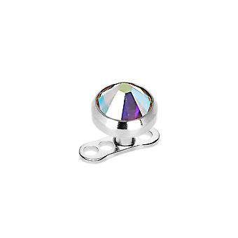 5Mm dermal anchor - 11 colors available - 316l surgical steel base included