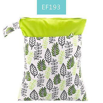 पुन: प्रयोज्य वाटरप्रूफ फैशन प्रिंट गीला सूखा डायपर बैग, डबल पॉकेट कपड़ा