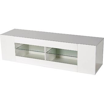 "Mueble TV LED ""Rain"" lacado - Blanco"