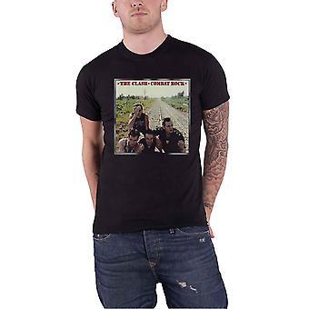 The Clash T Shirt Combat Rock Band Logo new Official Mens Black