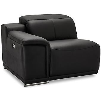 Ibbe Design Alexa 1 Sits Arm Letf Svart Läder, 105x102x73 cm
