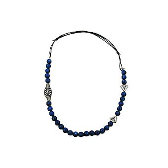Halskjede Blå Perler Lang
