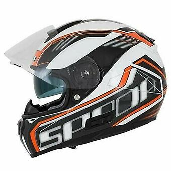 Spada SP16 Gradient Motorsykkel hjelm hvit og oransje