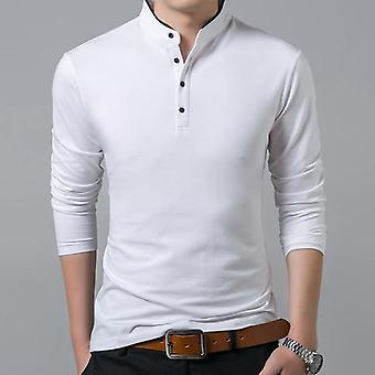 Puuvilla Full Sleeve Solid Color Topit & T-paidat Mandariinikaulus Pitkä T-paita