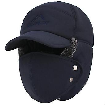 Winter Keep Warm Bomber Hats & Windproof Ear Protection Face Velvet Thicken