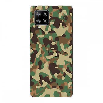 Scafo per Samsung Galaxy A42 5g Silicone Soft 1 Mm, Mimetismo Militare