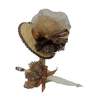Dolls House Victorian Coffee Lady's Hat & Parasol Shop Accessory