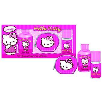Hello Kitty Pink Love Gift Set 15ml EDT + 50ml Shower Gel + Coin Purse
