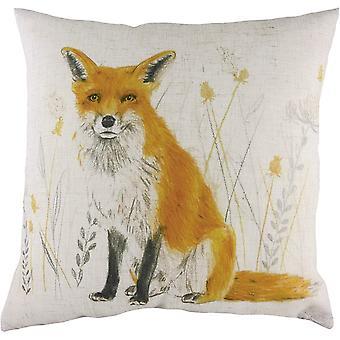 Evans Lichfield Fox Repeat Print Cushion Cover