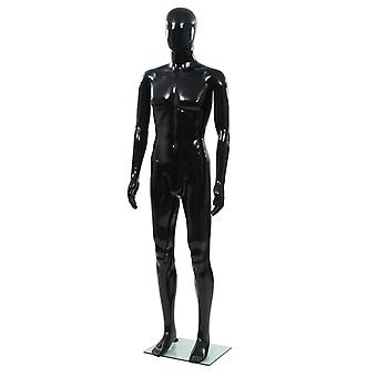 Male mannequin with glass base Black 185 cm