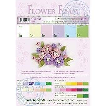 Leane Creatief Flower Foam A4 Set 23 Bordeaux