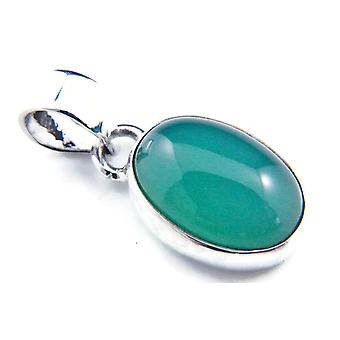 Kettinghanger Amulet Silver 925 Sterling Silver Green Onyx Green Stone (Nee: MAH 81-14)