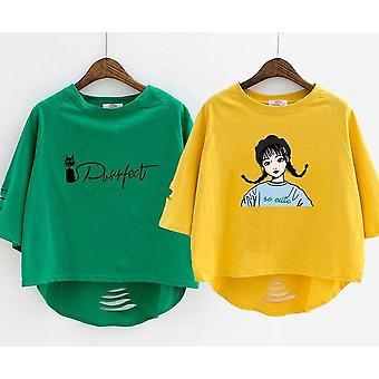 Cartoon Printed Fashion Cotton Half-sleeved Kids T-shirt