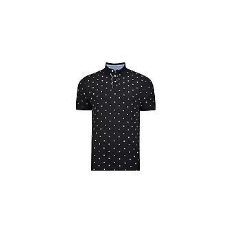 KAM Jeanswear Compass Print Polo Shirt