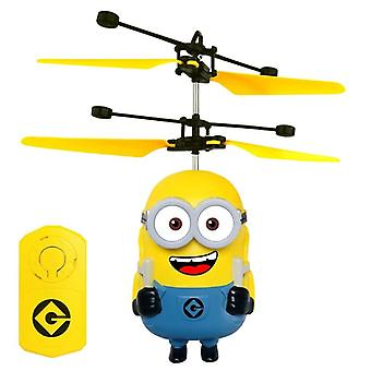 Minions Drone Rc Helicopter, Aircraft Mini Fly Flashing Helicopters