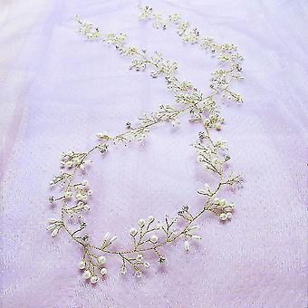Crystal Pearl Hair Belt Adornos nupciales de boda