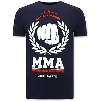 Camiseta impresa - MMA Fighter - Azul