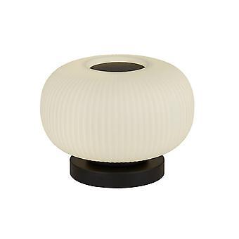 Søgelys Lumina 1 lys bordlampe med matteret ribbet glas