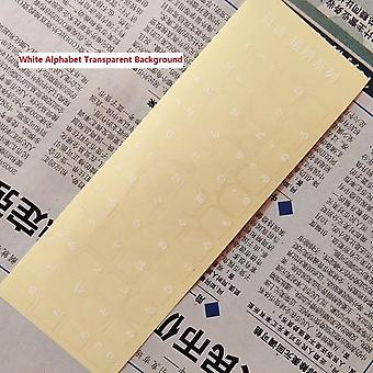Eco-milieu plastic witte Japanse letter toetsenbord lay-out stickers