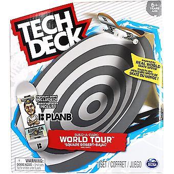 Tech Deck Bygg en Park World Tour Paris Square Robert-Bajac & Plan B Signatur Board
