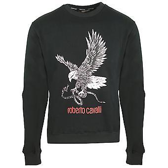 Roberto Cavalli Eagle Logo Musta Jumper