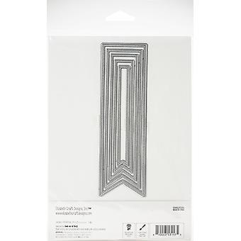 Elizabeth Craft Metal Die - Diagonal Stitched Fishtails