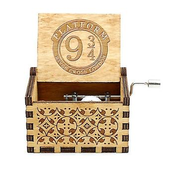Wooden Hand-cranked Music Box