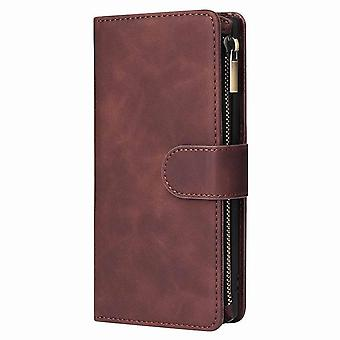 Multifunctional leather case for OnePlus 8 - Brown