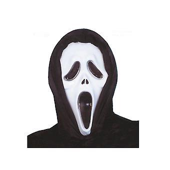 Zwart-wit plastic masker killer volwassen psycopath