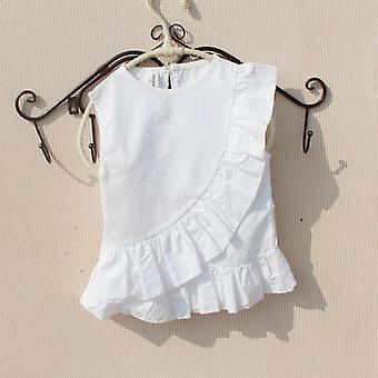 Cotton Ruffle Sleeve Less Shirts