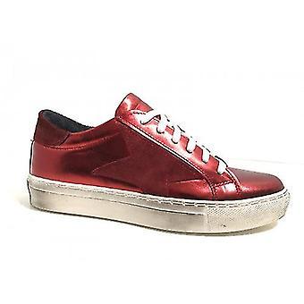 Shoes Women's Sneaker Bass Tony Wild Lamina Bordeaux Vintage Red Star D17ma04