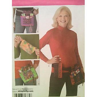 Yksinkertaisuus ompelu kuvio 3892 Apukassit Hip Bag Yksi koko leikkaamaton