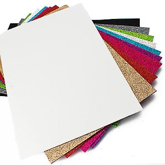 10 Assorted Sheets of A4 Bright Glitter Craft Foam - 2mm Thick