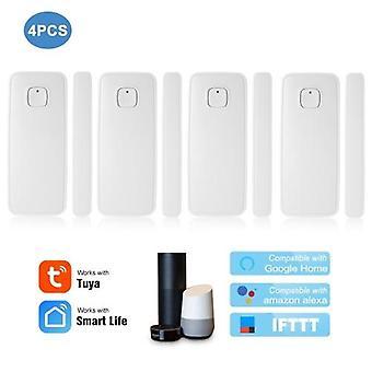 חיישן דלת WIFI Tuya APP חלון דלת שליטה פתיחת חיישן אזעקת אבטחה