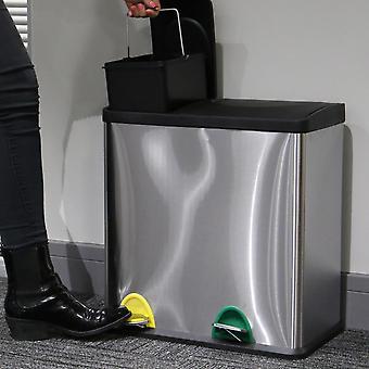 M&W Compact Recycling Pedal Bin 36L (12L + 24L) New