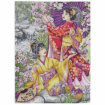 Anchor Counted Cross Stitch Kit: Maia Collection: Geishas